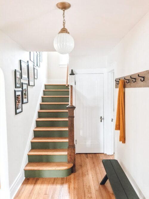 $100 Staircase Makeover by Little by Little Home After