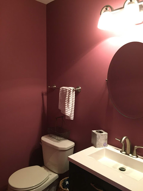 $100 Powder Room Makeover by R & R At Home Before