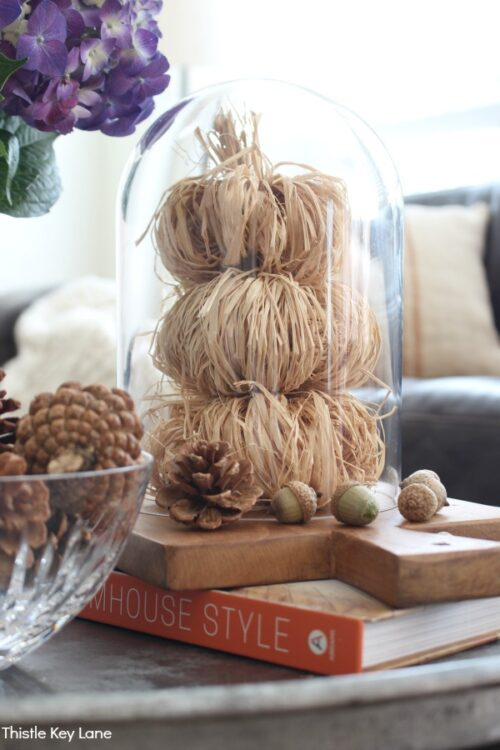 DIY Raffia Pumpkins from Thistle Key Lane