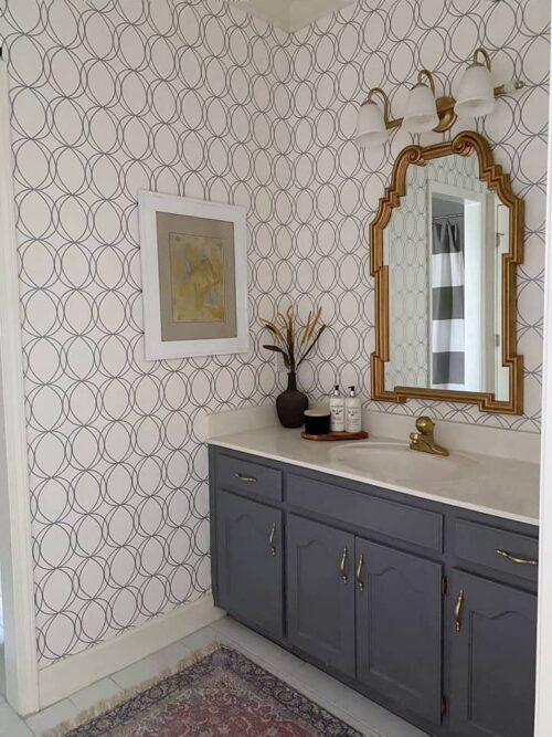 $100 Jack & Jill Bathroom Makeover by Savvy Apron After