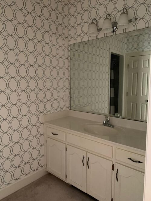 $100 Jack & Jill Bathroom Makeover by Savvy Apron Before