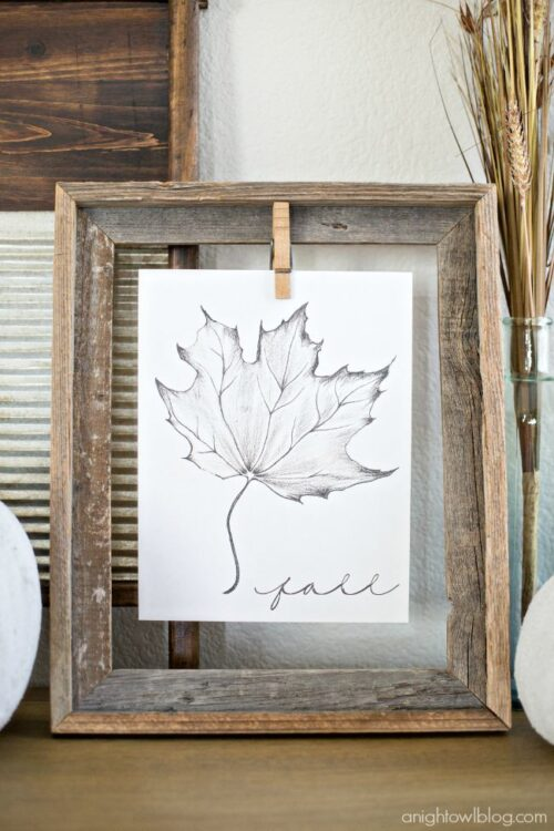 Maple Leaf Printable for Fall via A Night Owl Blog