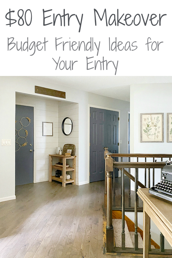 $80 Farmhouse Entry Makeover: Ideas for updating your entry on a budget