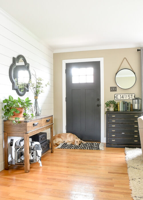 Shiplaped entry from Little House of Four