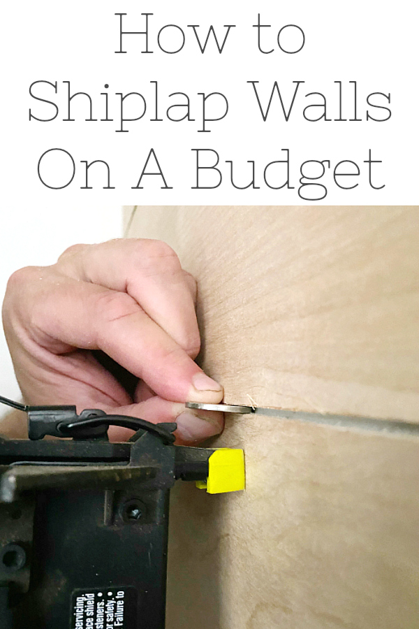 How to Shiplap Walls on a Budget