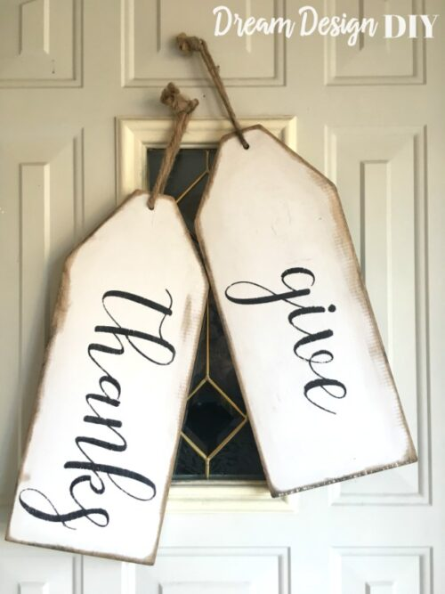 DIY Wooden Tags via Dream Design DIY