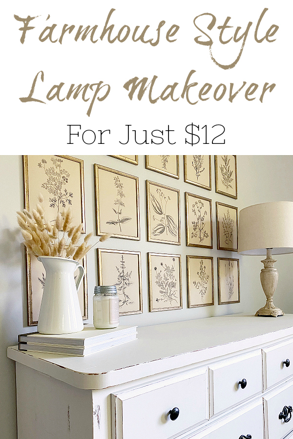 Farmhouse Style Lamp Makeover for only $12!