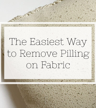 The easiest way to remove pilling from fabric.