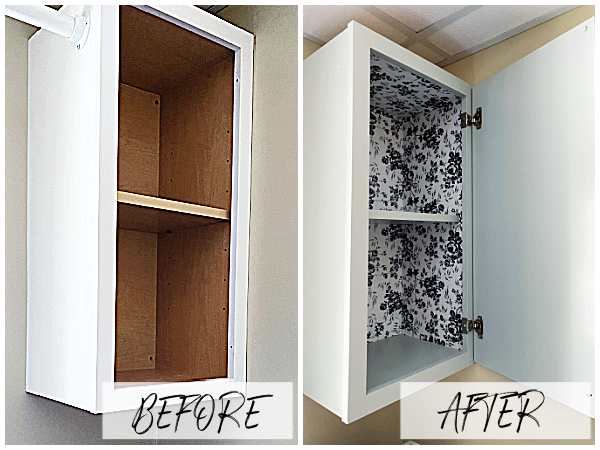 Painting Laminate Cabinets Before and After