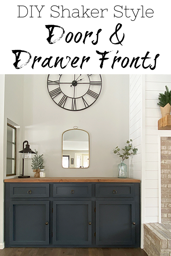Tutorial on making DIY Shaker Doors and Shaker Drawer Fronts