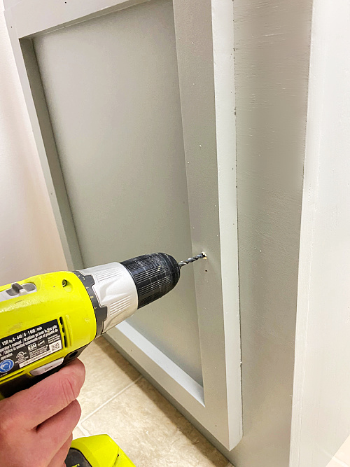 Drilling hole for knob