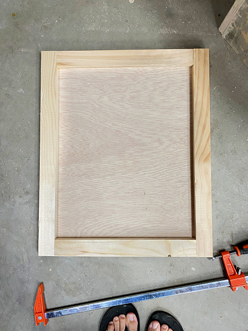 Finished DIY Shaker Style Door