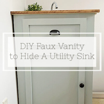Hide A Utility Sink with A Faux Vanity