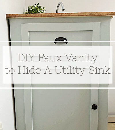 How to Hide A Utility Sink with a Faux Vanity