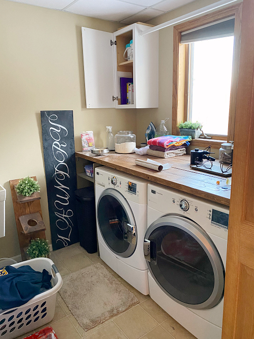 Messy Laundry Room Before Makeover