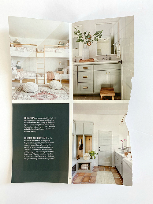 Color Palette Inspiration for the laundry room from page in Magnolia Journal