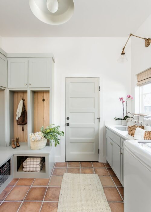 Inspiration for a $100 laundry room makeover