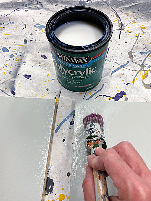 Use polycrylic to seal paint on high use pieces.
