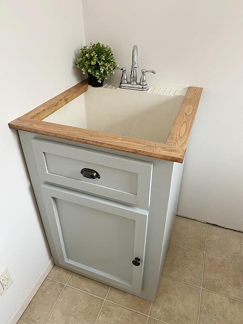 Faux Vanity to Hide Utility Sink
