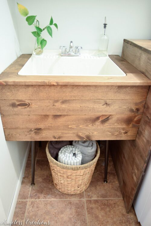 Utility Sink Surround via Timeless Creations