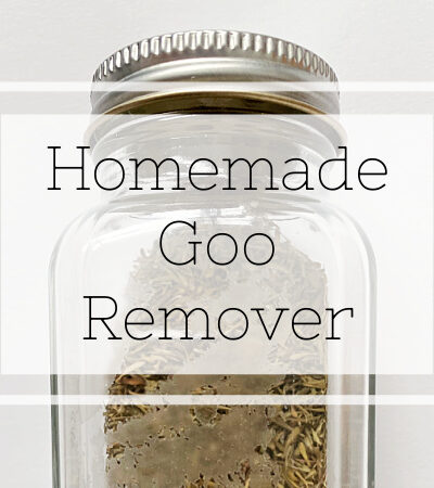Homemade Goo Remover that works like magic!