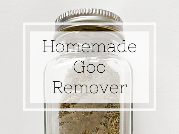 Homemade Goo Remover that works like magic!