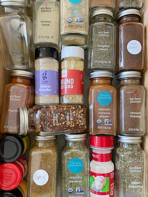 Spice Drawer prior to Organizing