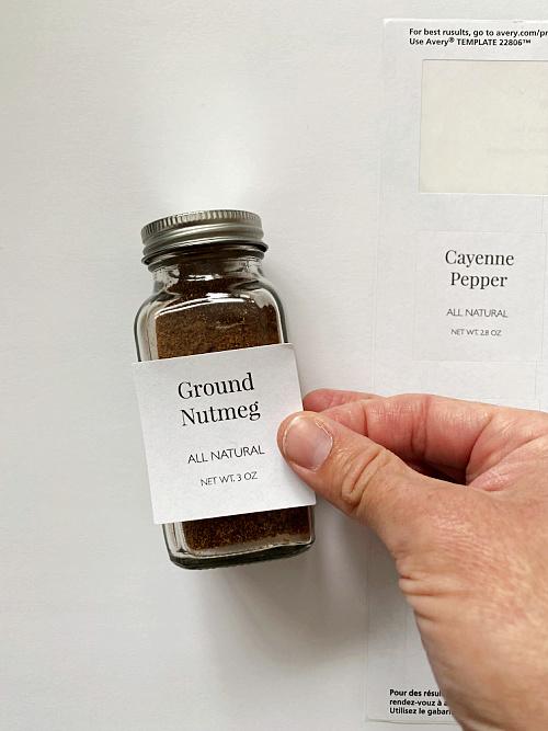 DIY Spice Drawer Labels