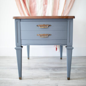 Nightstand / End Table Painted in Fusion Mineral Paint in the color Sandstone
