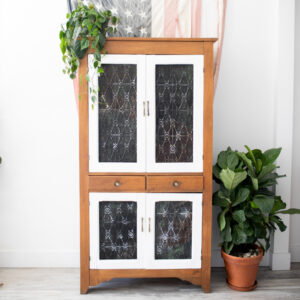 Antique Hutch with detailed doors
