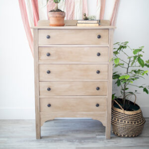 Tallboy Dresser finished in chalk paint and wax.