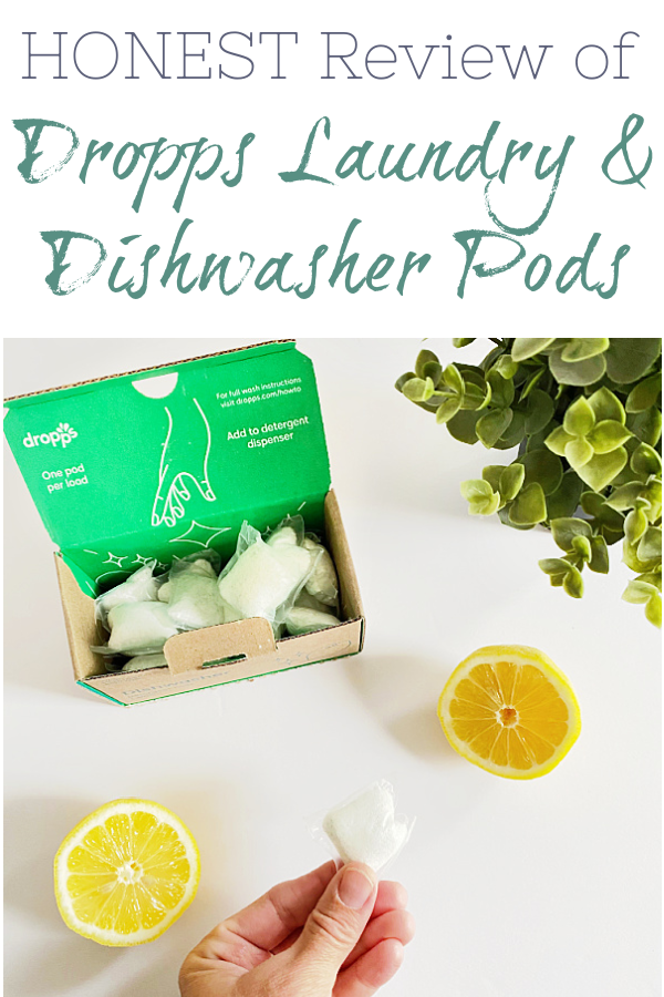 An honest review of Dropps laundry and dishwasher pods. This Dropps review shares everything from storage to usage instructions to purchasing information. #sponsored