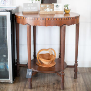 Round Etagere Side Table