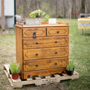 Wood Dresser Outside On Pallet